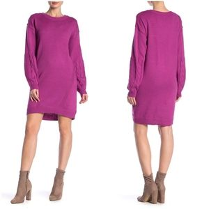 Abound Stitched Mix Sweater Dress Womens Scoopneck